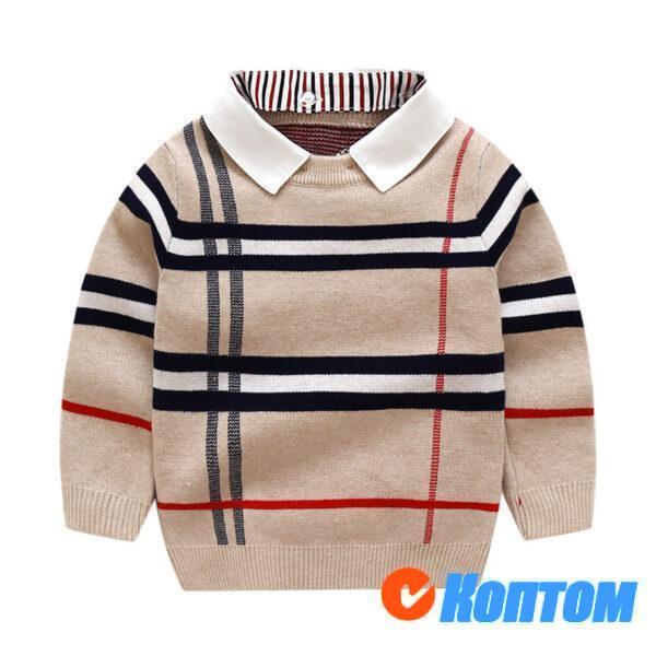 Детский свитр решетки для мальчика AR003