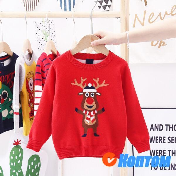 Детский свитер олени для мальчика AR0016