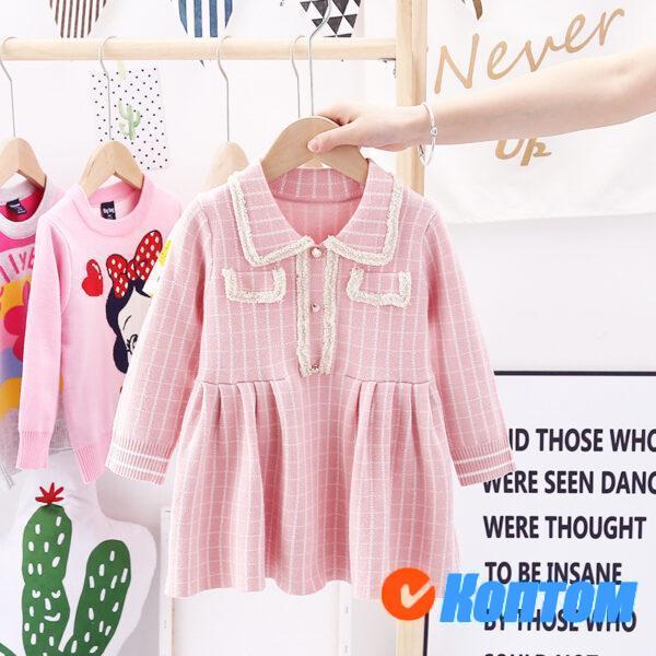 Шерстяное платье для девочики AR008