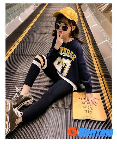 Детский модный костюм для девочки YAH077
