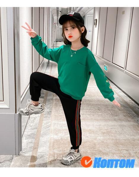 Детский модный костюм для девочки YAH070