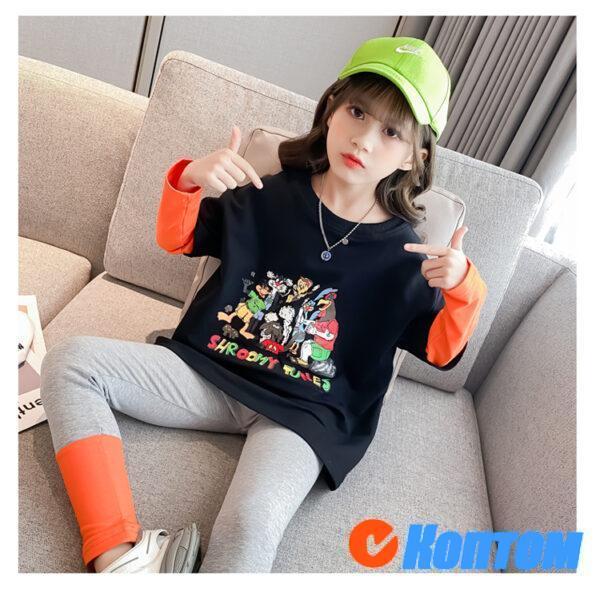 Детский костюм с длинными рукавами для девочики YAH035