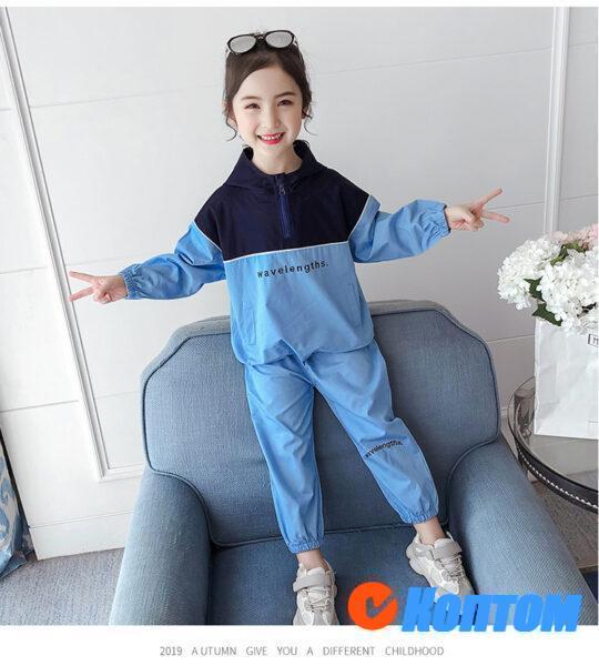 Детской модный костюм  с длинным рукавом для девочки YAH046
