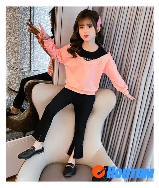 Детский модный костюм для девочки YAH078