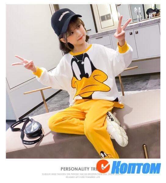 Детский модный костюм для девочики YAH036