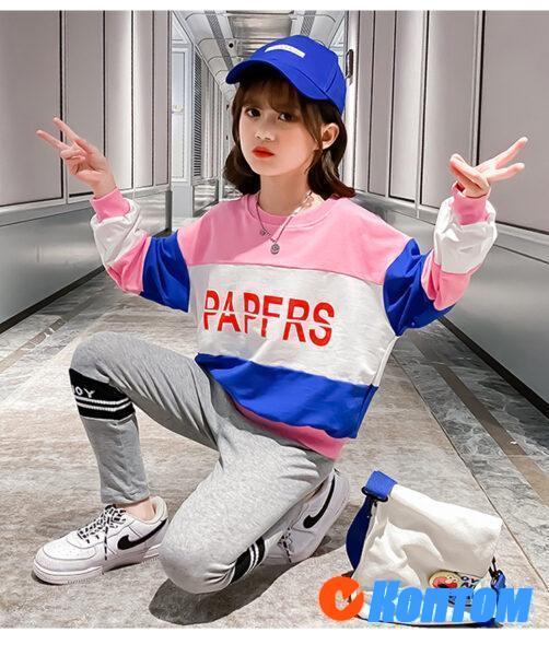 Детский модный костюм для девочки YAH059