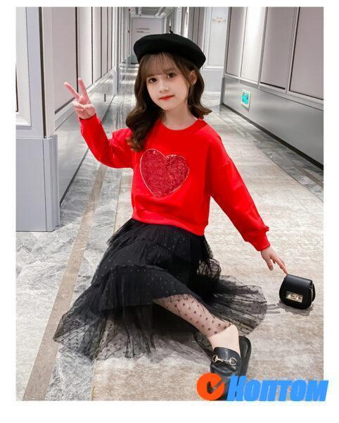 Футболка и юбка для девочки YAH057