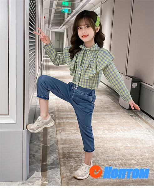 Рубашка и джинсы для девочки YAH048