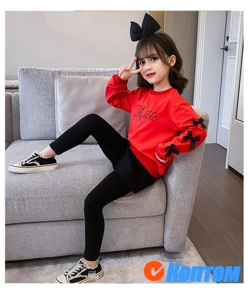 Детской модный костюм с длинным рукавом для девочки YAH058
