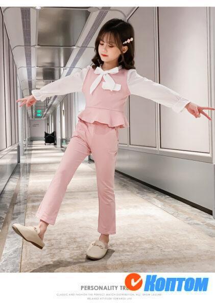 Детский модный костюм для девочки YAH076