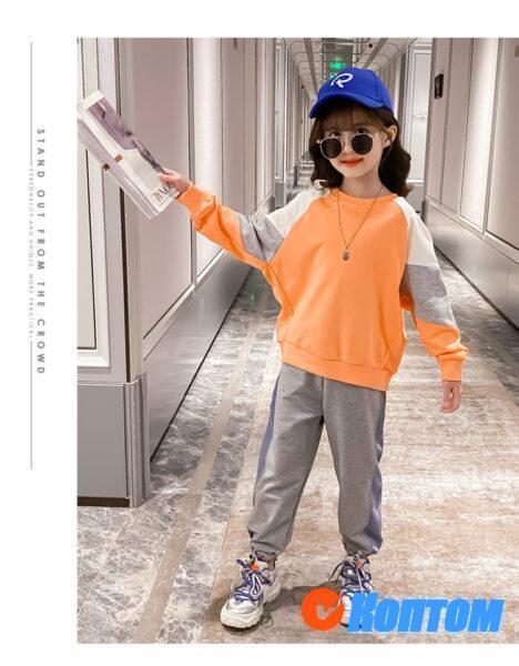 Детская футболка  с длинным рукавом для девочики YAH033