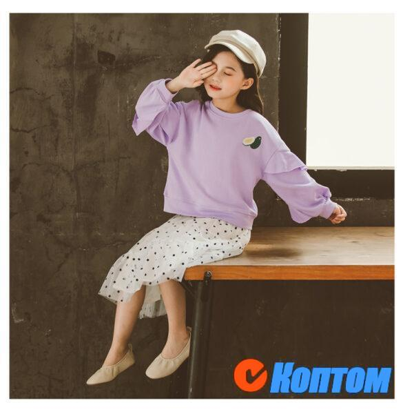 Футболка и юбка для девочки  YAH051