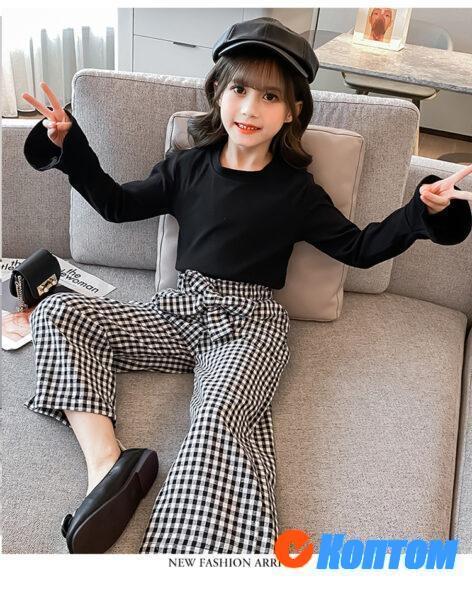 Детский модный костюм для девочки YAH071