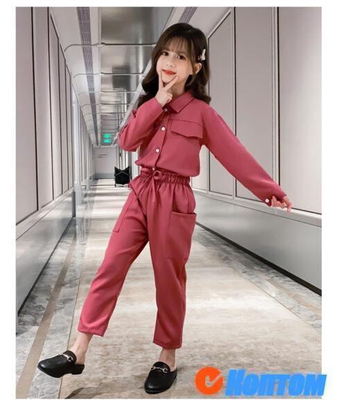 Детский модный костюм для девочки YAH075