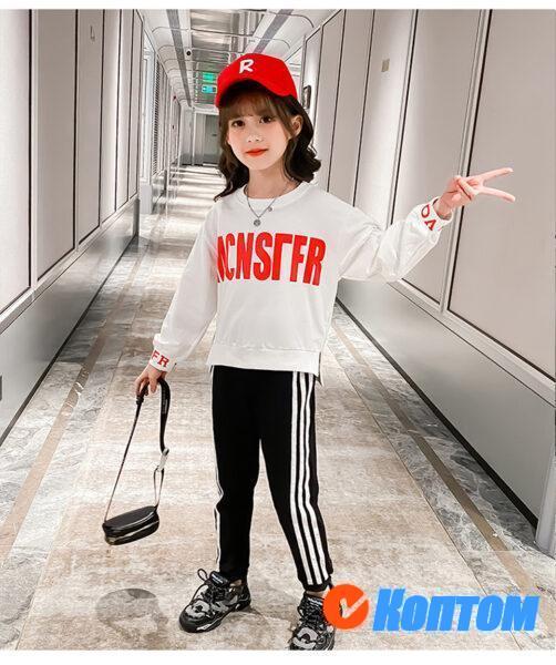 Детской модный костюм  с длинным рукавом для девочки YAH026