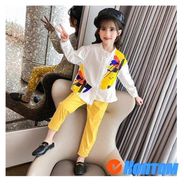 Рубашка и брюки для девочки YAH049