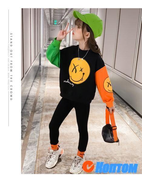 Детский модный костюм для девочики YAH030