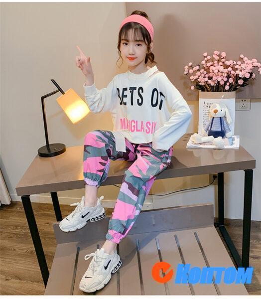 Детский модный костюм для девочики YAH037