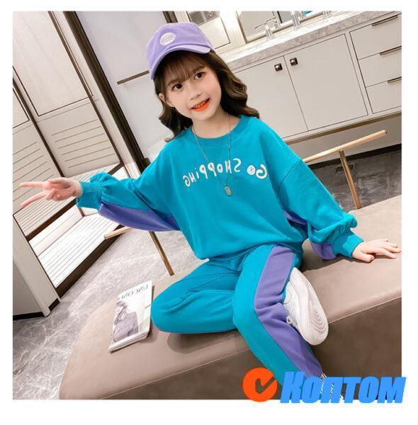 Детский модный костюм для девочки YAH068