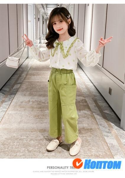 Рубашка и брюки костюм для девочки YAH050