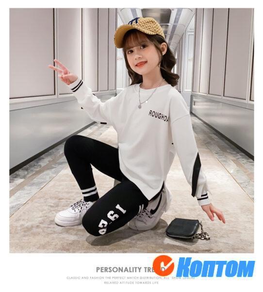 Детский модный костюм для девочки YAH060