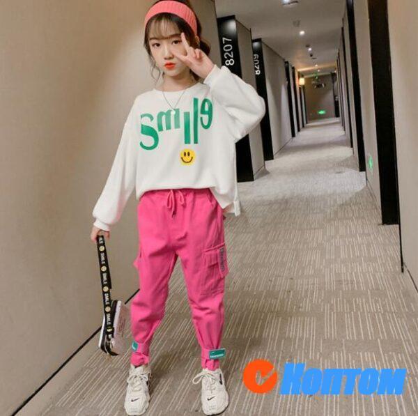 Детский модный костюм для девочки YAH044