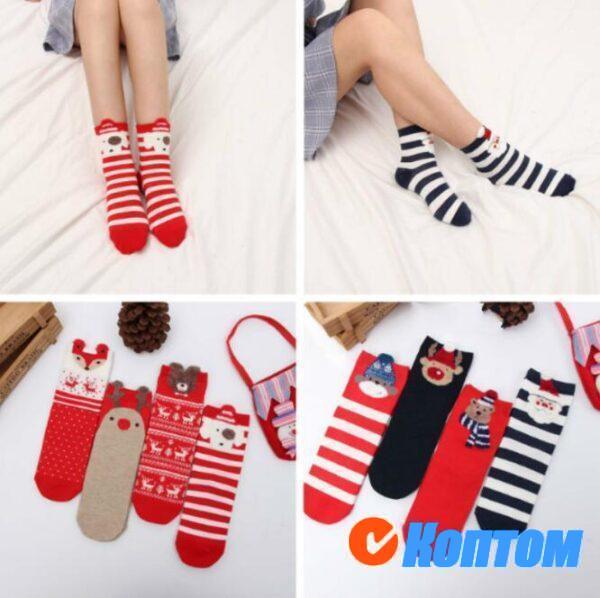 Детские новогодние носки DI003