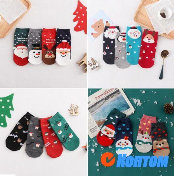 Детские новогодние носки DI004