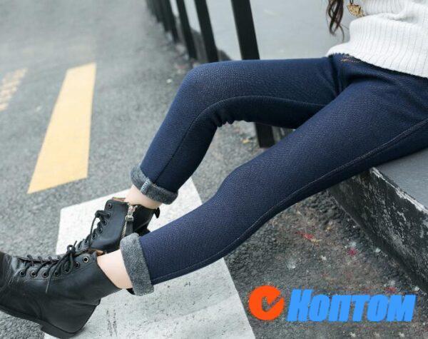 Зимние плюшевые брюки джинсы DN002