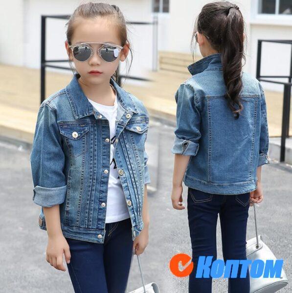 Джинсовая куртка для девочки DN004
