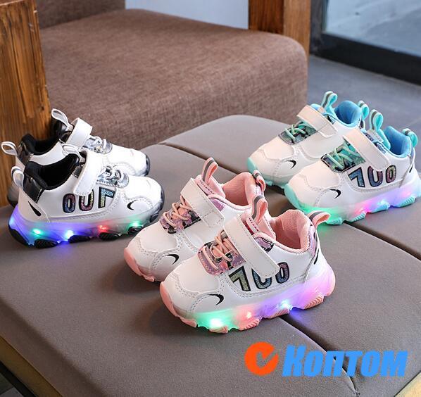 Модные крутые кроссовки для маленьких девочек и мальчиков DR002