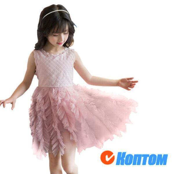 Платье принцессы с цветочным рисунком для девочек YAJ003