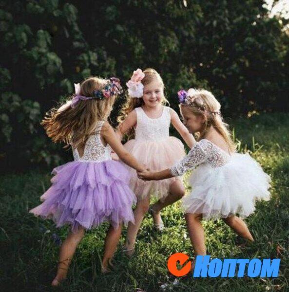 Платье принцессы с цветочным рисунком для девочек YAJ002